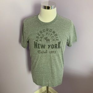 Abercrombie & Fitch Gray T-Shirt Size Large